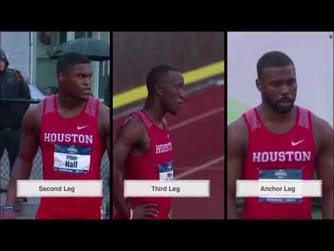 Houston Men's 4x100 - (NCAA Record) 2018 NCAA Outdoor Championships