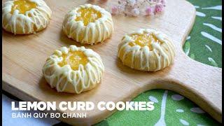 Lemon Curd Cookies - Bánh Quy Nhân Bơ Chanh   Bakez - Baking Tutorials and Recipes