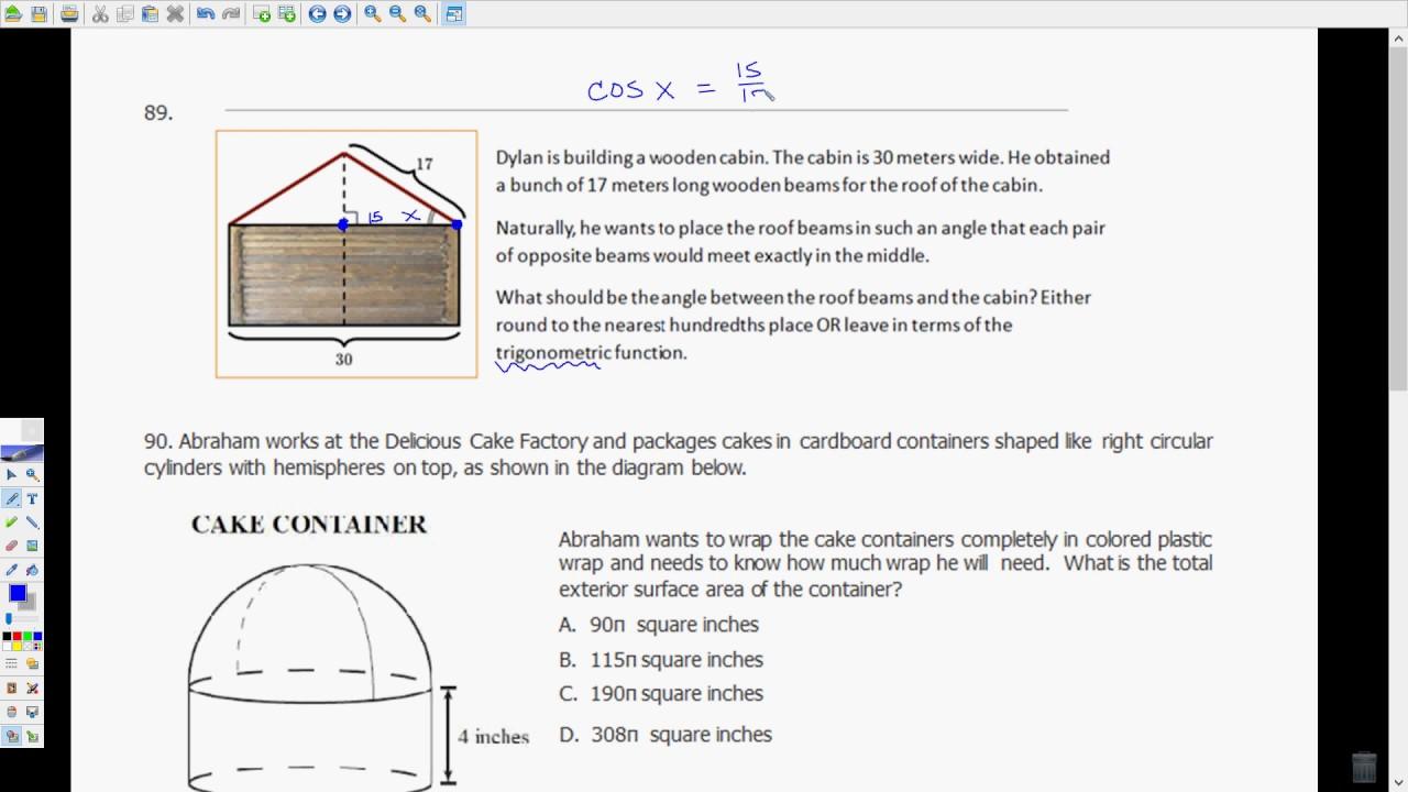 FSA Geometry EOC Review Video #9 85-95 - YouTube