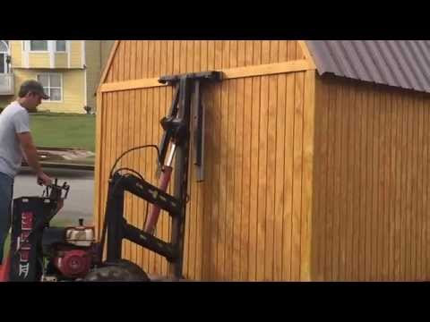Graceland Portable Building Shed Delivery - YouTube