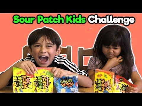 Sour Patch Kids Challenge Fun DIY | Foodie Babies Nico & Suri