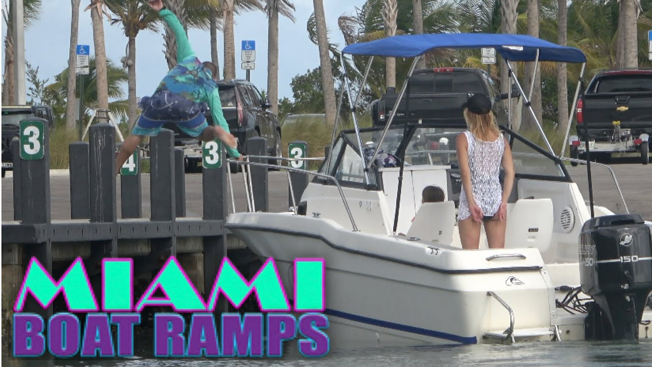 Watch The Bow Rail!! | Miami Boat Ramps | 79st