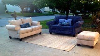 Royal Sofa Set $300 W Rug & Throw Pillows