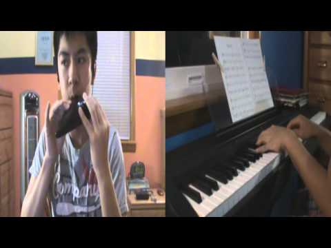 Ocarina of Time: Zelda's Lullaby Duet on Ocarina/Piano