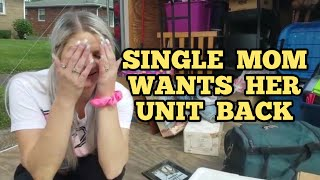 SINGLE MOM Storage Unit Owner Tries To Buy Back Her Abandoned Storage Unit / Storage Wars Auction