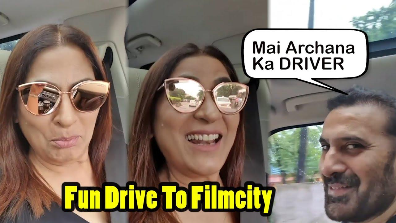 'मैं हूँ नौकर बीवी का' Says Parmeet Sethi As He Drives Archana Puran Singh To Sets