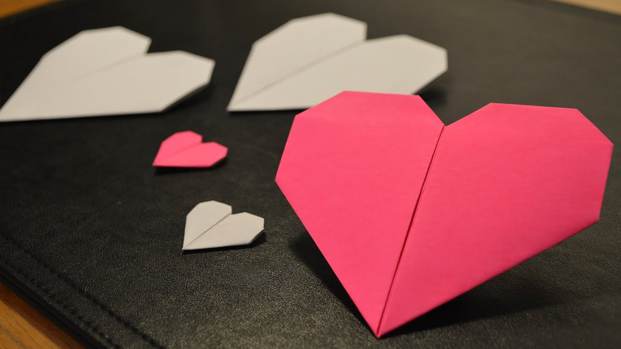 how to make a paper heart youtube. Black Bedroom Furniture Sets. Home Design Ideas