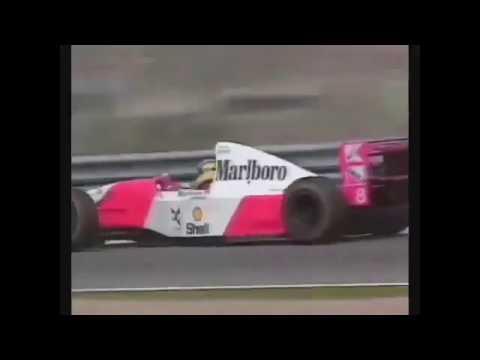 Schumacher Pursuits Senna [On+Off Board Camera]