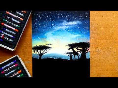 Painting an African landscape with soft pastels | Leontine van vliet
