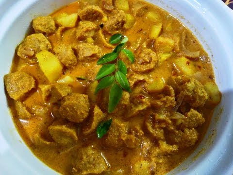 How to make Spicy and Delicious Soya Chunks Potato Curry
