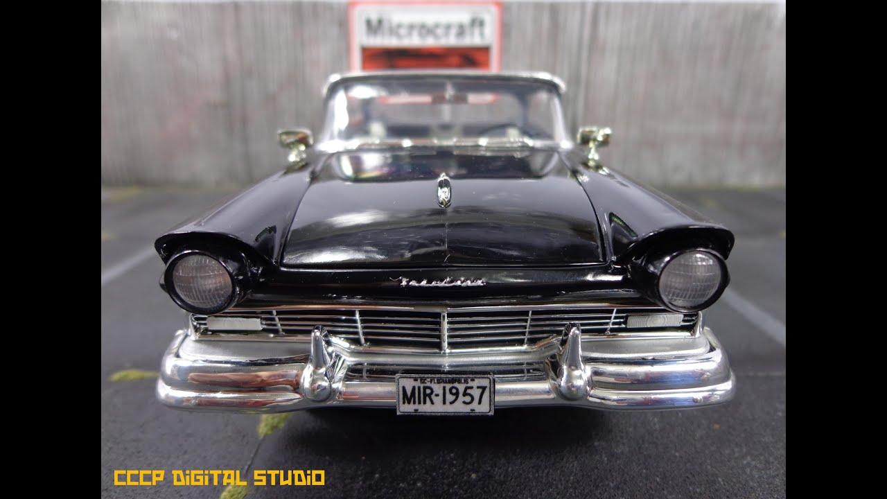 1957 Ford Fairlane Club Victoria Amt Model Car Youtube 1950s Bumper