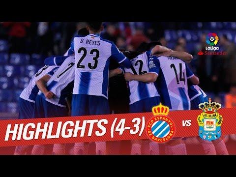 Resumen de RCD Espanyol vs UD Las Palmas (4-3)