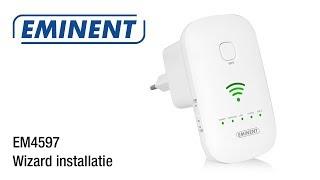 EM4597 WiFi Repeater -  wizard installatie