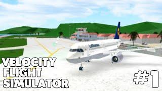 I LANDED ON ONE WHEEL! | Velocity Flight Simulator TXKF - TFFJ #1 | Roblox