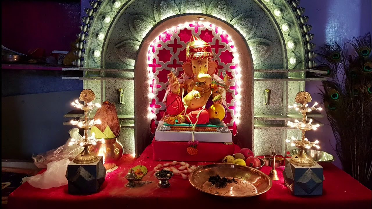 ganpati decoration ideas for home with thermocol