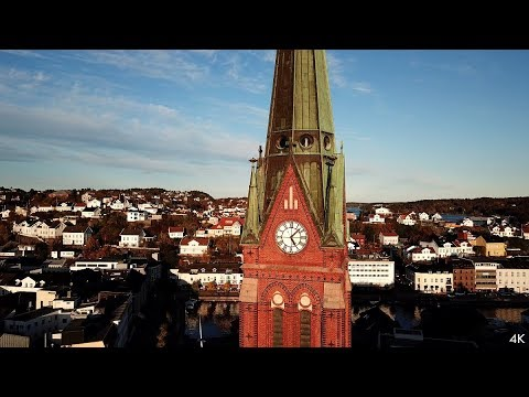Arendal city centre - Norway (Drone 4k)