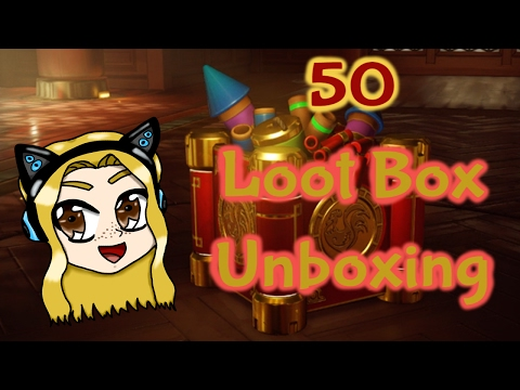 GNC18P - Overwatch: Happy Chinese New Year! 50 Loot Box Unboxing!