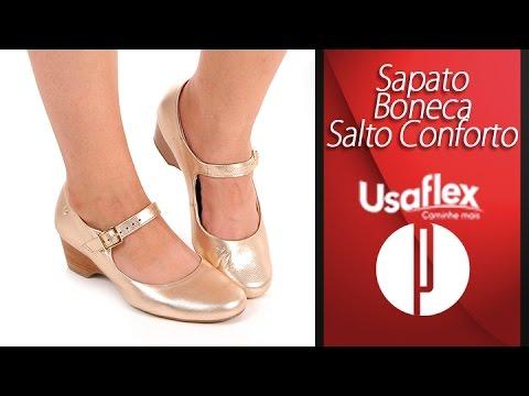 f4d59e225 Sapato Boneca Salto Conforto Feminino Usaflex - 6030451346 - YouTube
