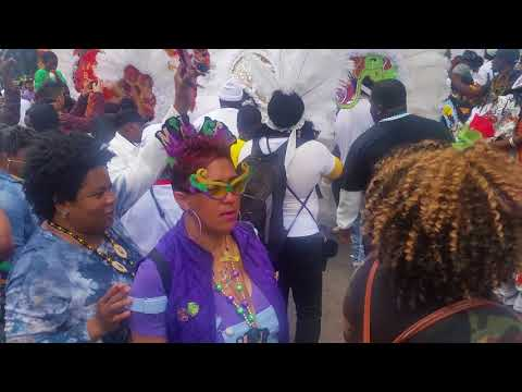 Black Flame Hunters Mardi Gras Indians (Zulu Parade 2018)