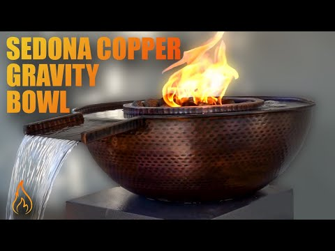 The Sedona Copper Gravity Spill Fire & Water Bowl