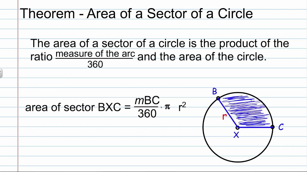 10 7 Geometry Area Of Circles And Sectorsv