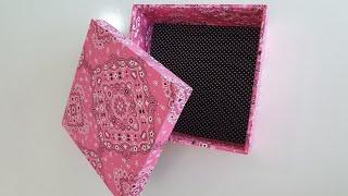 Caixa MDF revestida de Tecido