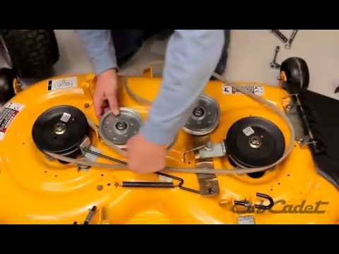 1054 Cub Cadet Wiring Diagram How To Change The Deck Belt On A Cub Cadet Riding Lawn