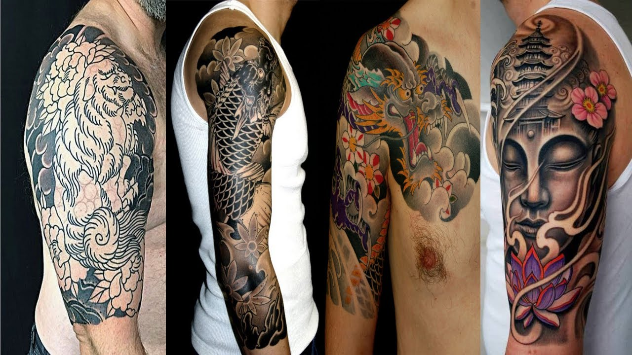 Japanese Tattoo Designs Half Sleeve For Men Youtube