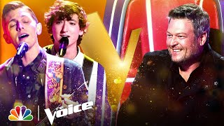 Berritt Haynes and Clint Sherman Each Get Blake Shelton's Chair to Turn   Voice Blind Auditions 2021