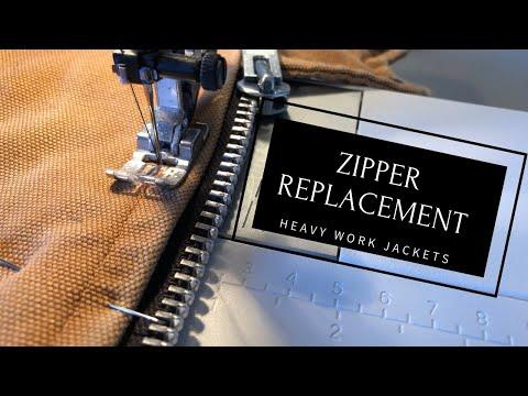 Replacing A Zipper In A Work Jacket