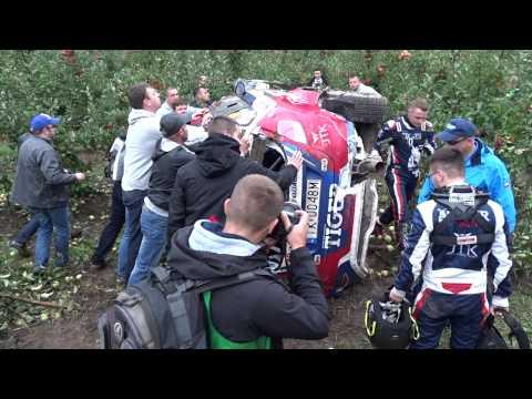 Kasperczyk / Syty - shakedown crash - wypadek - Rajd Nadwiślański 2015