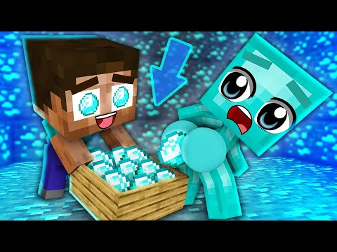 Monster School : Brother Baby Zombie and Baby HEROBRINE Girl 2 - Sad Story - Minecraft Animation