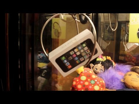 iPhone 5s CLAW MACHINE WIN!