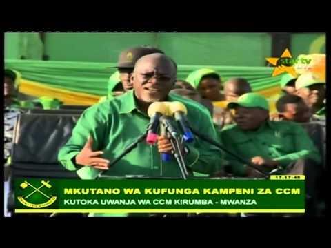 Magufuli ahutubia Kirumba Mwanza ufungaji kampeni CCM