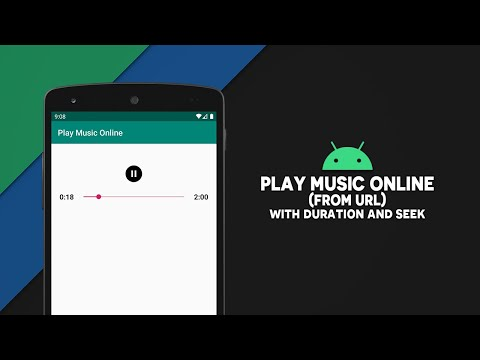 Android Play Music Online   From URL   Android Studio   Java