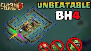 BH4 (BUILDER HALL 4)UNBEATABLE BEST ANTI 2 STAR TROPHY BASE LAYOUT 2017-CLASH OF CLANS