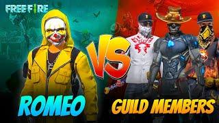 Romeo Vs Guild Members Best Pro Player Aukat Clash Squad- Garena Free Fire😎
