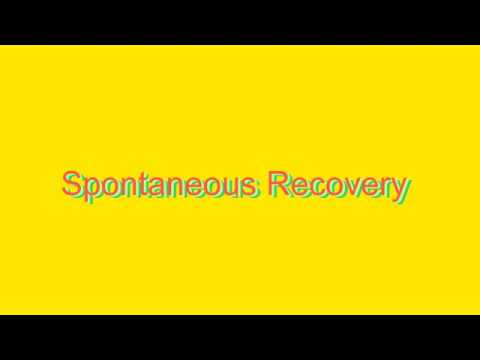 How to Pronounce Spontaneous Recovery