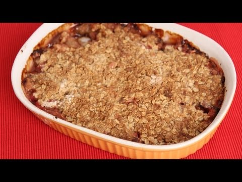 Rhubarb Crisp Recipe - Laura Vitale - Laura in the Kitchen Episode 578