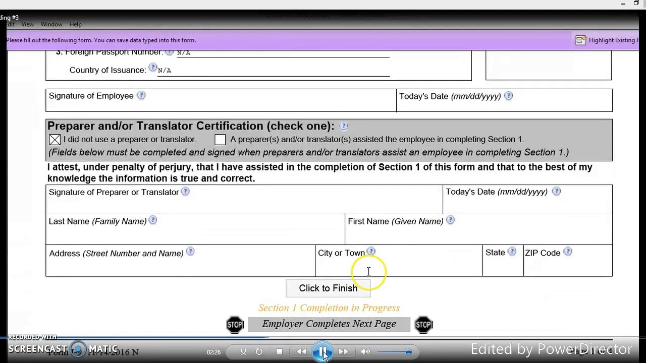 Fill Able I 9 Form Instructions Youtube