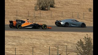 F1 2017 McLaren-Honda vs Koenigsegg Regera at Black Cat Country