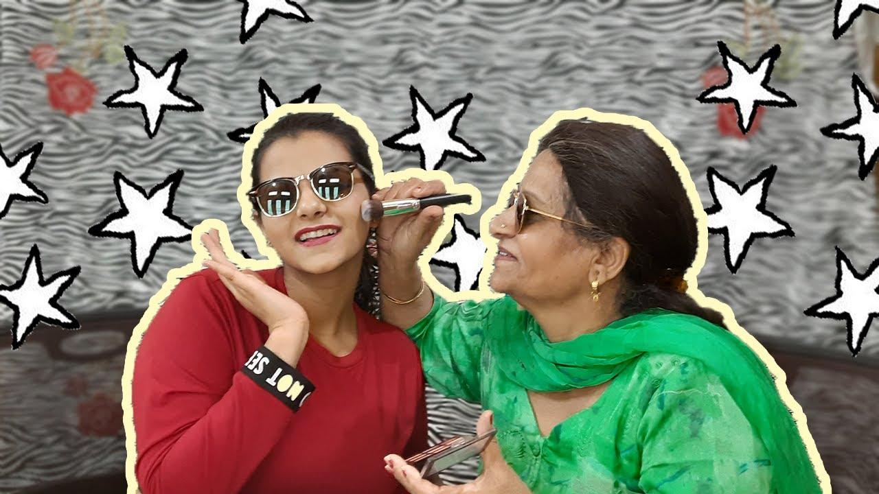 MY DADI (Grandmother) DID MY MAKEUP | Get to know us! | Asmi Pahwa