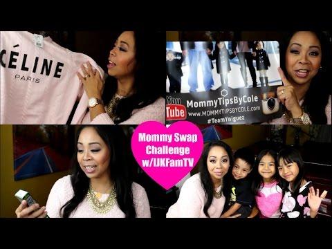 Mommy Swap Challenge with IJKFamTV!!! #MommySwapChallenge