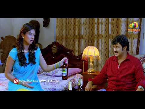 Srimannarayana Movie Scenes - Isha Chawla trying to get Balakrishna drunk
