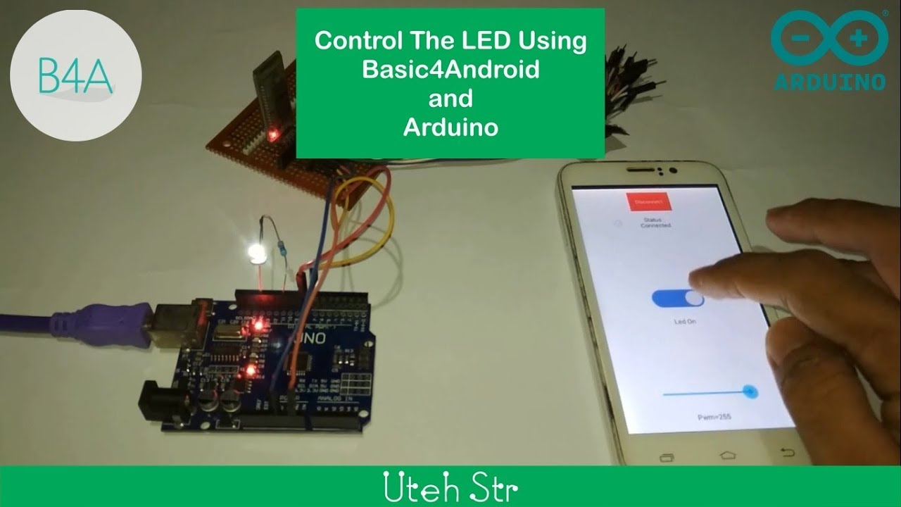 Basic4Android (B4A) | Control The LED Using Basic4Android and Arduino