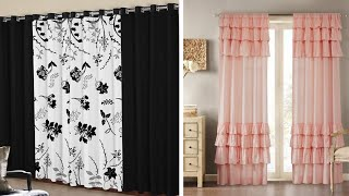 latest window curtain designs 2020 ruffle curtains and layered drape ideas for fancy look