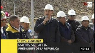 """Vizcarra en Moquegua: """"Constatamos que se tiene un avance del 95%"""""""