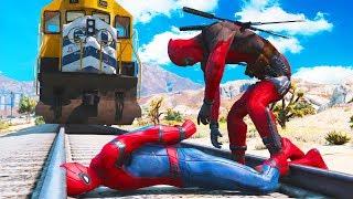 GTA 5 Crazy Ragdolls Spider-Man with Deadpool Ep.18