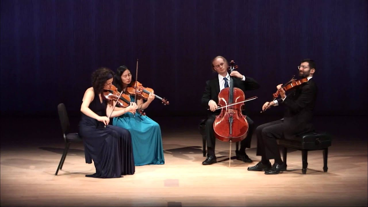 Chiara Quartet Plays Brahms Slow Movement by Heart