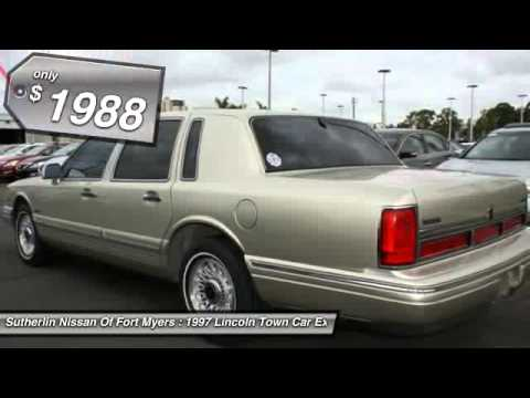 1997 lincoln town car executive fort myers fl 33912 youtube. Black Bedroom Furniture Sets. Home Design Ideas